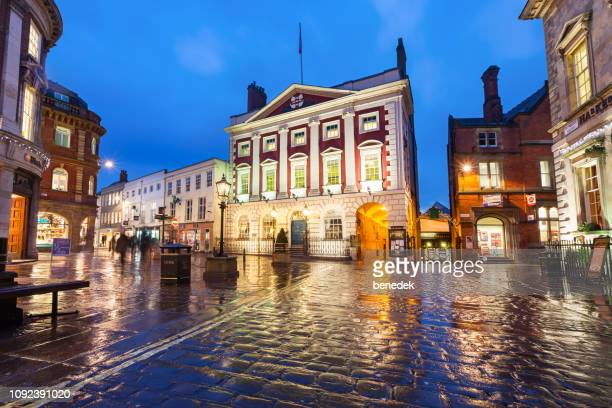 the mansion house at st helen's square in downtown york england uk - north yorkshire stock pictures, royalty-free photos & images