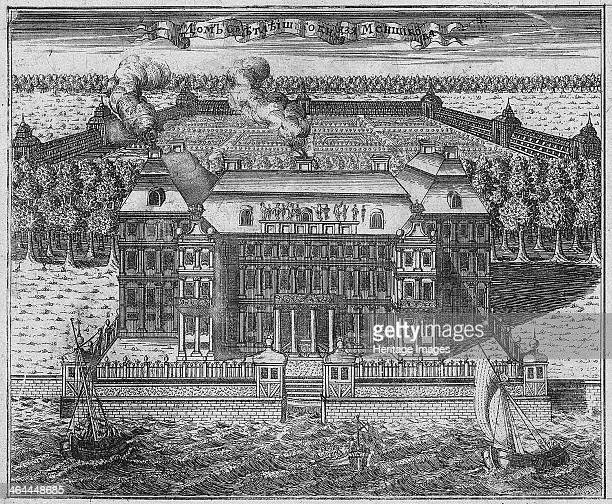 The Mansion of Prince Alexander Danilovich Menshikov Generalissimo Prince of the Holy Roman Empire and Duke 1717 Found in the collection of the State...