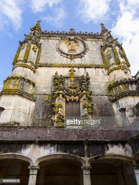 The Manueline Window or Janela do Capitulo Convent of Christ Convento de Cristo in Tomar It is part of the UNESCO world heritage Europe Southern...