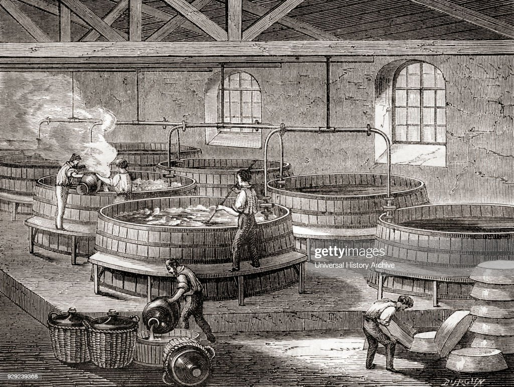 The manufacture of soap in large tanks in the 19th century : News Photo