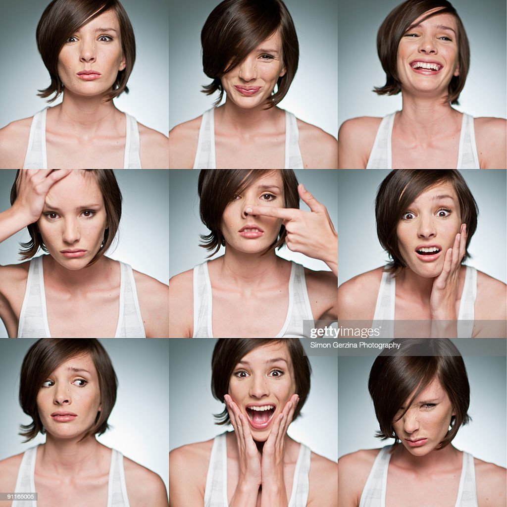 The Many Faces of Megan : Stock-Foto