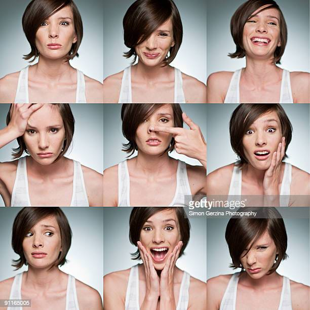 the many faces of megan - expressão facial - fotografias e filmes do acervo