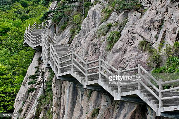The many stairs in the Yellow Mountains, China