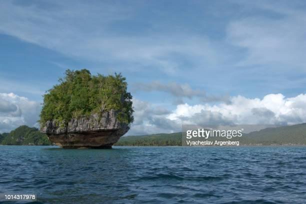 the marabut coastline, ethereal seascape in leyte gulf, pacific ocean, philippines - argenberg bildbanksfoton och bilder