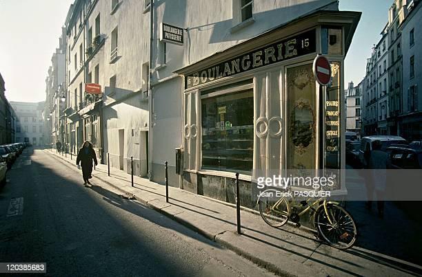 The Marais Saintonge street in Paris France in 1997