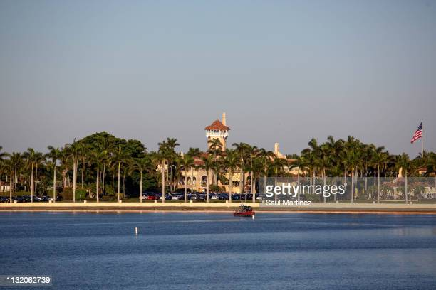 The MaraLago estate is seen where President Donald Trump is hosting a meeting with Caribbean leaders on March 22 2019 in West Palm Beach Florida...