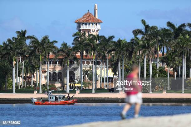 The MaraLago Resort is seen where President Donald Trump is hosting Japanese Prime Minister Shinzo Abe on February 11 2017 in West Palm Beach Florida...