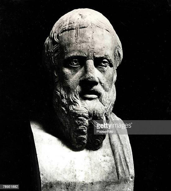 The marble bust of Herodotus, , Greek historian