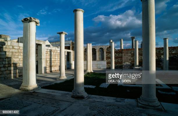 The marble Court in Sardis the capital of Lydia during the reign of King Croesus Turkey Greek civilisation 5th Century bC