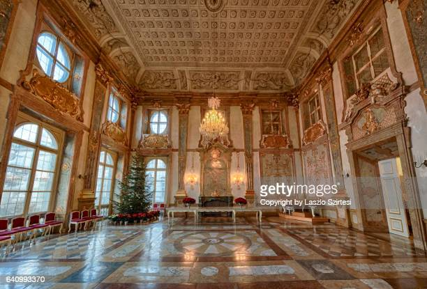 the marble hall in the mirabell - palazzo reale foto e immagini stock