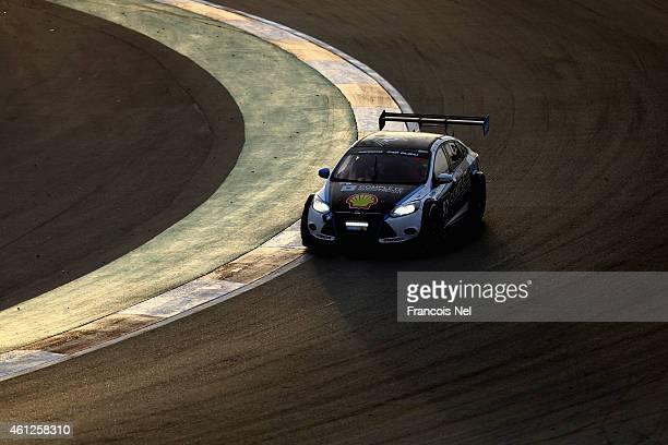 The Marc Car Australia 2 driven by James Kaye Amro Al Hamad and Tony Karanfilovski during the Hankook 24 Hours Dubai Race at Dubai Autodrome on...