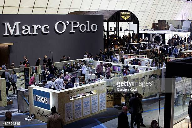 The Marc O'Polo brand stand is seen in the end of a general view at the Bread and Butter trade show at the former Tempelhof airport during...