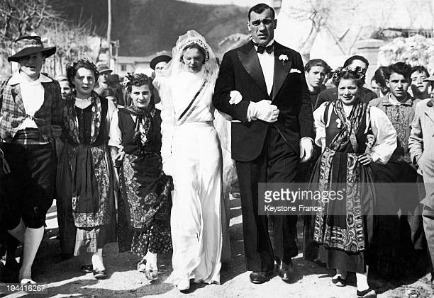 The March 1939 wedding of the boxer Primo CARNERA to the Yugoslavian Guiseppina KOVACIC
