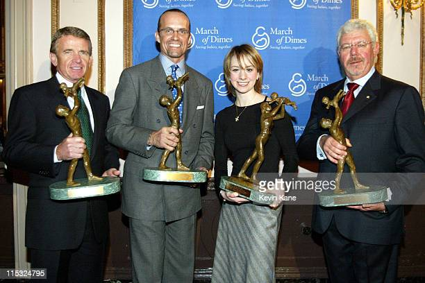The March of Dimes Sports Leadership recipient Tim Finchem Sportsman of the Year Kyle Petty Sportswoman of the Year Sarah Hughes and Corporate...