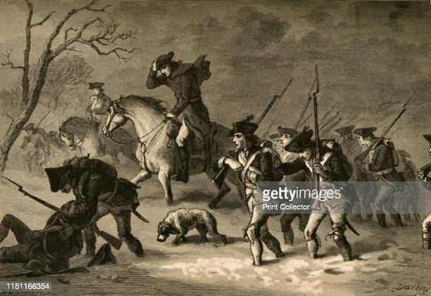 The March of the Valley Forge' After failing to retake the the American capital of Philadelphia from the British in 1777 George Washington led his...
