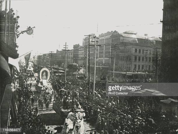 The Mardi Gras parade in Canal Street, New Orleans, USA, 1895. The annual Mardi Gras celebrations have been held in New Orleans, Louisiana, since the...