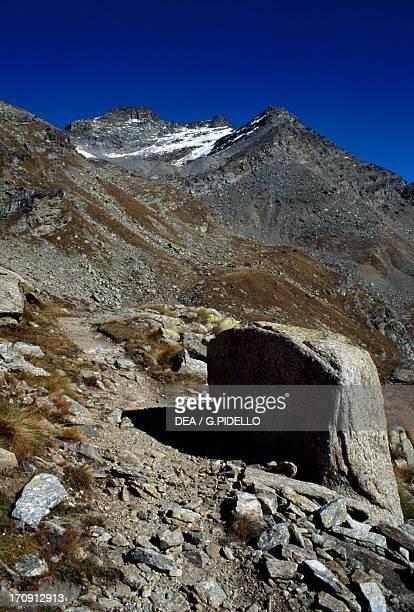 The Mare Percia and Punta Foura' peaks, Gran Paradiso National Park, Piedmont, Italy.