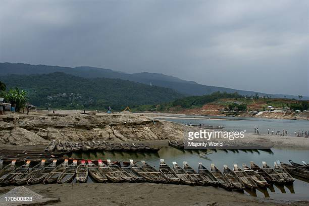 The Mari River in Jaflong Sylhet Bangladesh The river coming from the Himalayas of India brings millions of tons of stone boulders with its current...