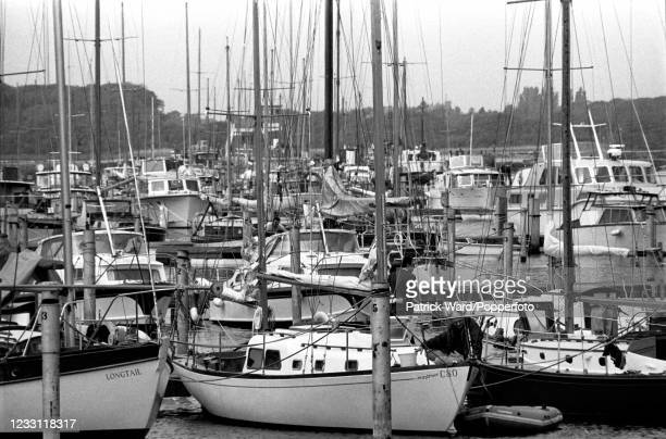 The marina at Lymington in Hampshire, circa July 1969. From a series of images to illustrate the many frustrations of living in Britain during the...