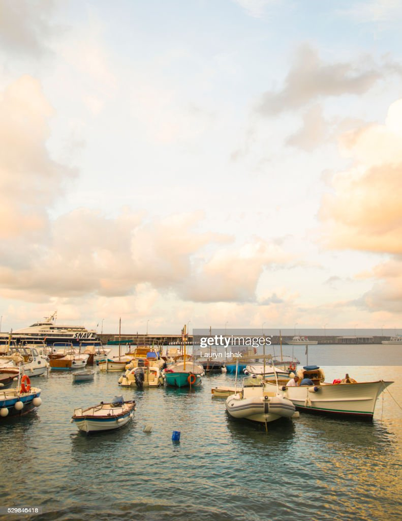 The marina at the island of Capri : Stock Photo