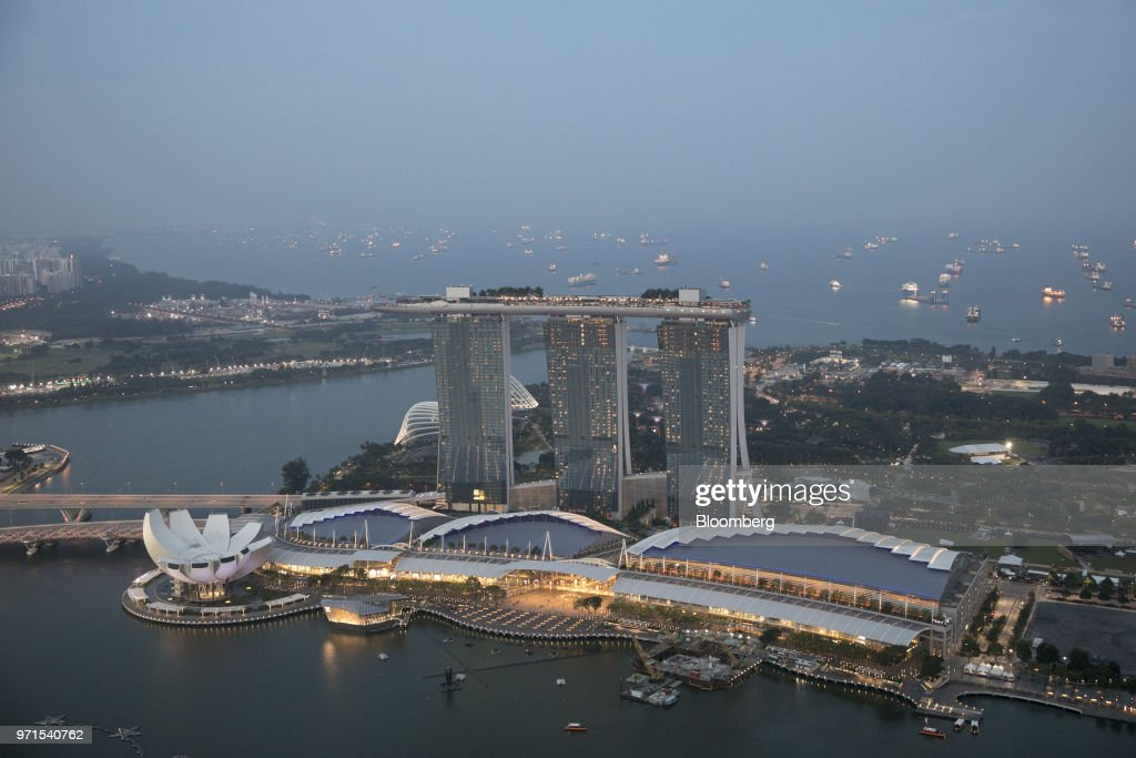 General Views of Singapore Ahead of Summit in Singapore : News Photo