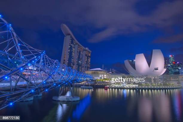 The Marina Bay Sands, integrated resort and casino.