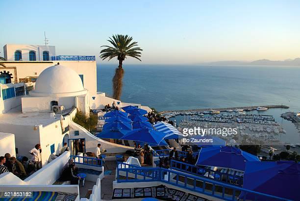 the marina in sidi bou said, tunisia - bo zaunders stock pictures, royalty-free photos & images