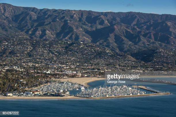 The Marina is viewed in this aerial photo on February 23 in Santa Barbara California A combined series of natural disasters the Thomas Fire and...