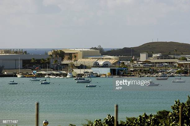 The Marine Corp Base Hawaii in Kaneohe Bay on June 25 2009 The base is one of seven active military installations on Hawaii which include a...