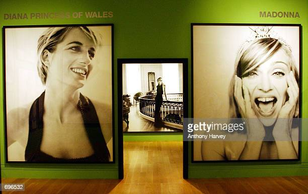 The Mario Testino photography exhibition is on display at the National Portrait Gallery January 31 2002 in London England The exhibition is a...