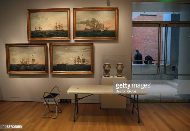 The Maritime Art Gallery in the new wing at the PeabodyEssex Museum in Salem MA is pictured on Sept 5 2019