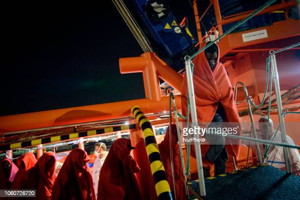 The Maritime Spanish Vessel SAR Mastelero rescued three dinghies with a total 139 SubSaharan persons among them women and childrenThey were all taken...