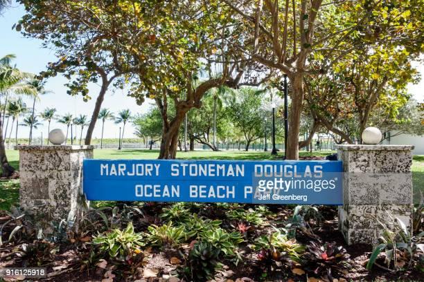 The Marjory Stoneman Douglas Ocean Beach Park sign