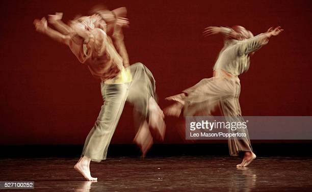 The Mark Morris Dance Group performes from the Visitation piece during a photocall in the Sadlers Wells Theater in London, England, UK.