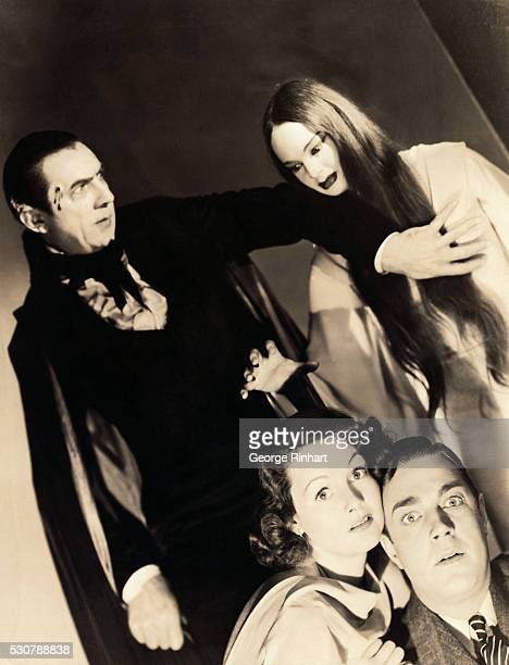 The Mark of the Vampire 1935 MGM photo shows the 'undead' the vampires Count Mora and his daughter Luna out for the blood of their victims seen in...