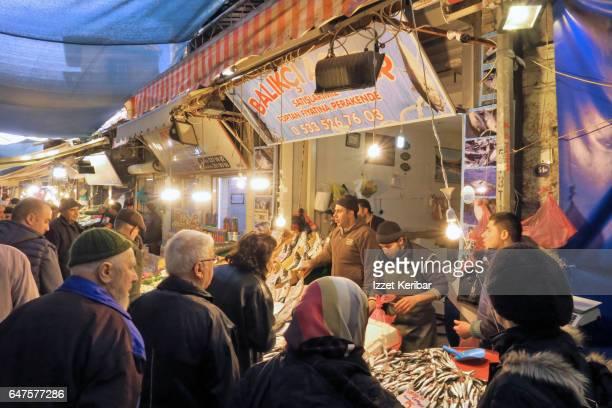 The market  at Kemeralti, Konak neighbourhood, Izmir Turkey