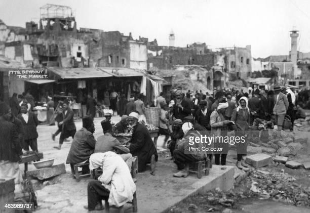 The market Beirut Lebanon c1920sc1930s