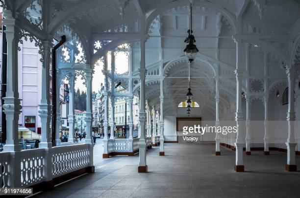 the market colonnade, kralovy vary, czech republic - karlovy vary stock pictures, royalty-free photos & images