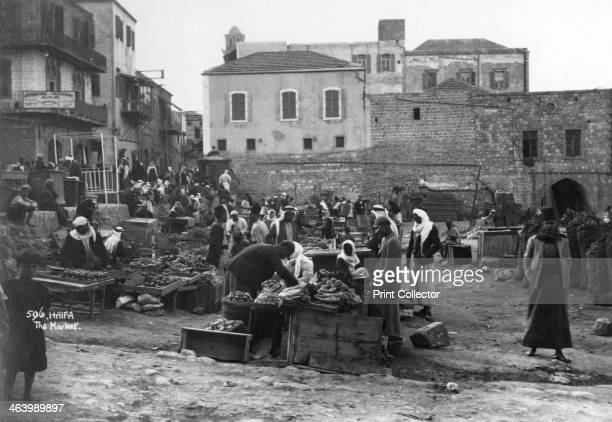 The market Haifa Palestine c1920sc1930s
