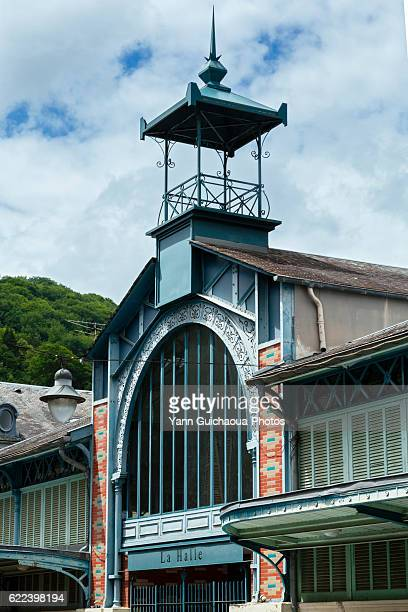 The market hall at Bagneres de Bigorre, Haute Garonne, France