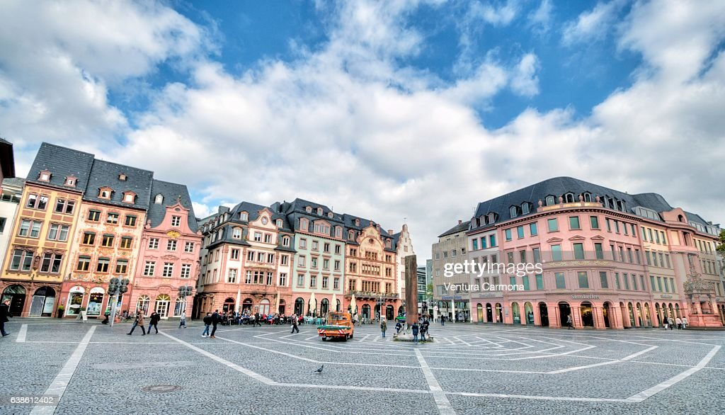 The Market in Mainz, Germany : Stock Photo