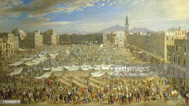 The market in Naples by Angelo Maria Costa Italy 17th18th century