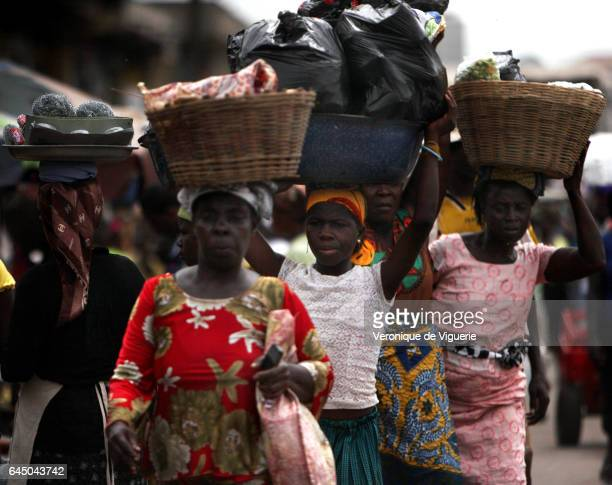 The market in the suburb of Agbogbloshie in the capital Accra Ghana A kayayo is a market carrier/porter in Ghana a role mainly occupied by teenage...
