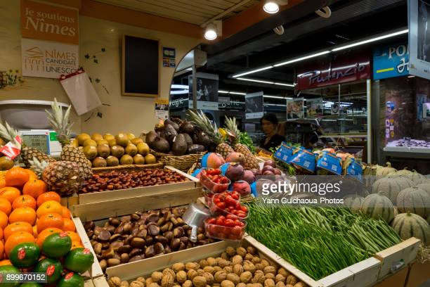The market indoor,Nimes, Gard,Occitanie, France,
