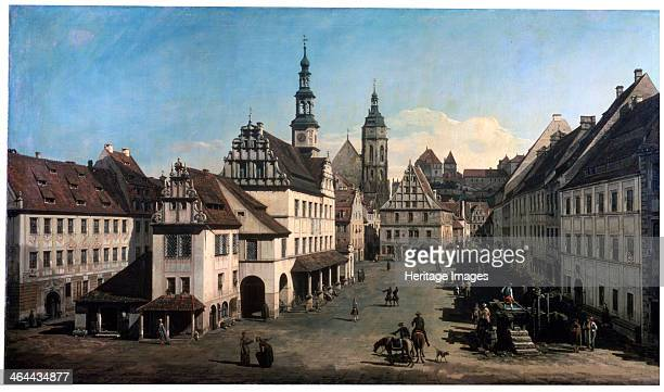 'The Market Place in Pirna' c1752c1755 Pirna is a town near Dresden Saxony Germany Found in the collection of the State A Pushkin Museum of Fine Arts...