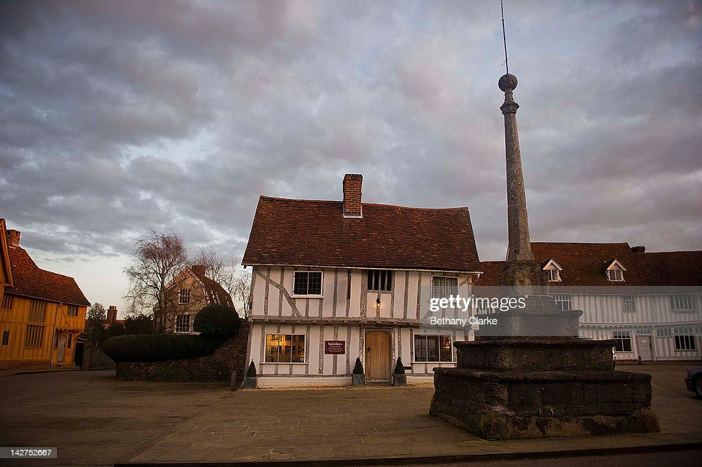 The Picturesque Village Of Lavenham In Suffolk : News Photo