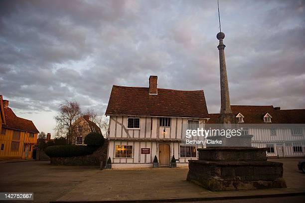 The market place in the village of Lavenham In Suffolk on March 03 2012 in Lavenham England