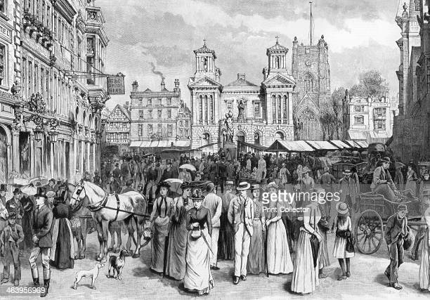 The market place Kingston upon Thames Surrey 1890 A print from The Graphic 23 August 1890