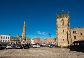 The market square at Richmond, North Yorkshire, England