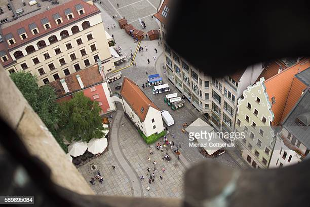 The market square or Rynek in Wroclaw or Breslau on June 12 2016 in Wroclaw Poland